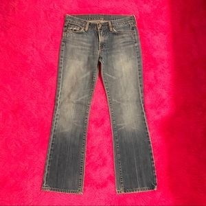 7 for All Mankind Light Blue Jeans Boot Cut Sz 28